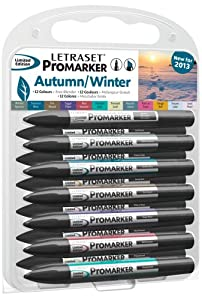 Letraset ProMarker Set (12 colours + Free Blender) - 2013 Limited Edition Autumn / Winter Colours
