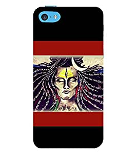 Lord Shiva 3D Hard Polycarbonate Designer Back Case Cover for Apple iPhone 5c