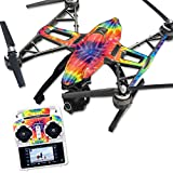 MightySkins Protective Vinyl Skin Decal for Yuneec Q500 & Q500+ Quadcopter Drone wrap cover sticker skins Tie Dye 2