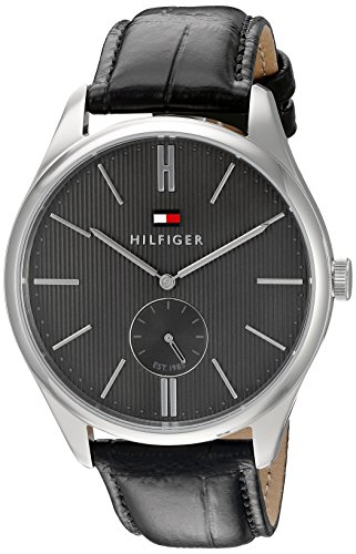 Tommy-Hilfiger-Mens-1791168-Analog-Display-Quartz-Black-Watch