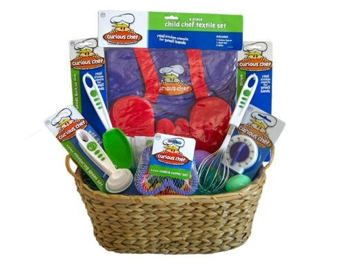 Curious Chef Kids Cookie Making Gift Basket with Bonus Cookie Mix Great for Birthdays!