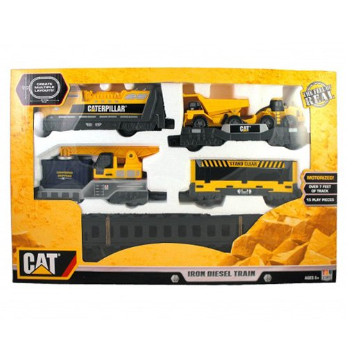 Toystate Caterpillar Construction Iron Diesel Train