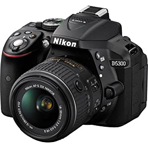 Nikon D5300 24.2 MP CMOS Digital SLR Camera with Nikkor AF-S 18-55mm f/3.5-5.6G AF-S DX VR Lens (Black) International Version (No warranty)