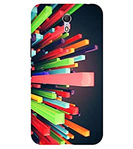 Chiraiyaa Designer Printed Premium Back Cover Case for Lenovo Zuk Z1 (colorful blocks nature) (Multicolor)