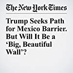 Trump Seeks Path for Mexico Barrier. But Will It Be a 'Big, Beautiful Wall'? | Amy Chozick,Manny Fernandez