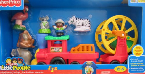 Fisher-Price Little People Animal Sounds Zoo Train Playset W Sounds & 3 Extra Zoo Talker Animals! (2012 Mattel Canada)