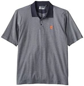 MLB Detroit Tigers Mens Drytec Resolute Polo Knit Short Sleeve Top by Cutter & Buck