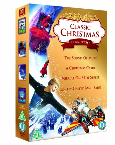 Classic Christmas 4 Film Collection: The Sound of Music, A Christmas Carol, Miracle on 34th Street & Chitty Chitty Bang Bang [DVD] [1965]