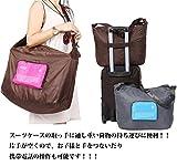 mark zenis 旅行バッグ ショルダーバッグ 機内用 折りたたみ スーツケースの持ち手に通せる 予備バッグ グリーン