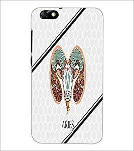 PrintDhaba Zodiac Aries D-4796 Back Case Cover for HUAWEI HONOR 4X (Multi-Coloured)