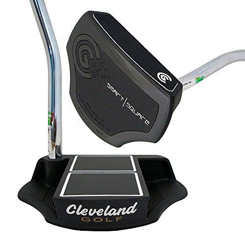 Cleveland Golf Men's Smart Square Center Shafted Mallet Belly Putter, Black, Right Hand, 39-Inch