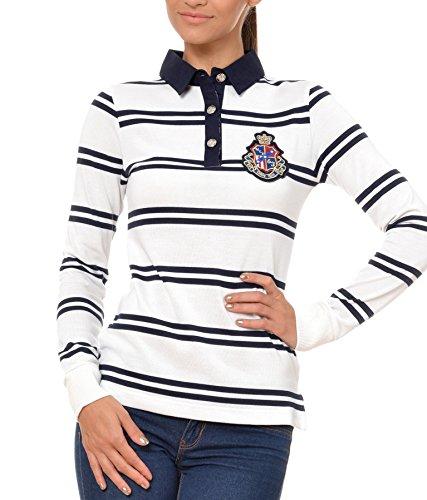 Polo Sweat Maglietta T-Shirt Felpa manica lunga per donna di M.Conte Kaylie bianco L