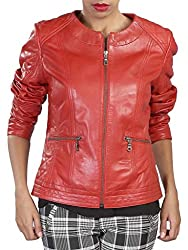 Theo & Ash Women Quilted Jacket (402L_Red_M)