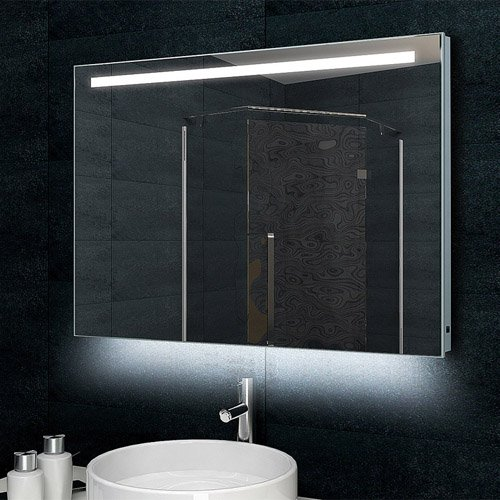 LUX Aqua Design bagno specchio da parete con 770lumen Telaio in alluminio illuminazione a LED 100x 60cm mld60100