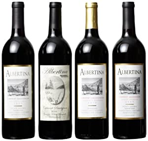 Albertina Wine Cellars Mendocino Cabernet Sauvignon Mixed Pack, 4 x 750 mL