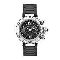 Cartier Men's W31088U2 Pasha Stainless-Steel Ceramic Automatic Chronograph Watch by Cartier