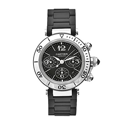 Cartier Men's W31088U2 Pasha Stainless-Steel Ceramic Automatic Chronograph Watch