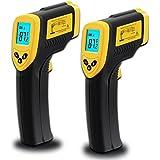 Etekcity Lasergrip 774 Non-contact Digital Laser IR Infrared Thermometer Temperature Gun, Yellow/Black, 2 Pack