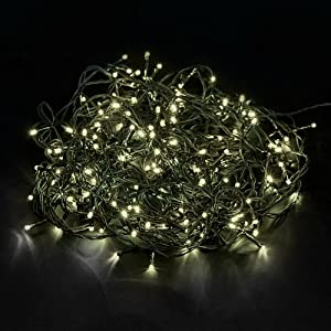 Tenia 200 LED Lichterkette Warmweiß Innen/Außen 20M Weihnachten Gartenbeleuchtung