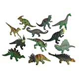 Mesozoic Dinosaur 12 Piece Set: Detailed Dino Figures up to 4 inches Long ~ Toysmith