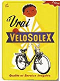 PLAQUE METAL 20X15cm PUB RETRO LE VRAI VELO SOLEX VELOSOLEX