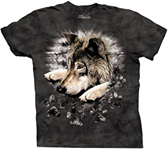 The Mountain Wolf in Dyed Paw Adult Tee (Small)