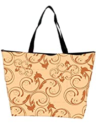 Snoogg Abstract Cream Pattern Designer Waterproof Bag Made Of High Strength Nylon - B01I1KMMP6