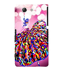 Lovely Girl 3D Hard Polycarbonate Designer Back Case Cover for Sony Xperia Z4 Mini :: Sony Xperia Z4 Compact