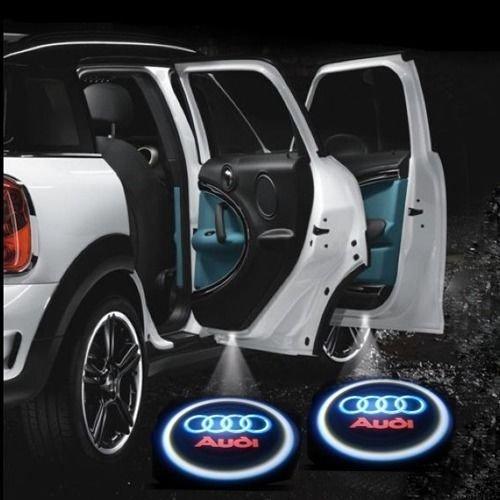 iFoxtek® Illuminazione Auto Porta a LED SMD illuminazione ingresso luce laser Porta per Audi A6 A8 Q7 Q5 A5 A4 (2 pezzi)