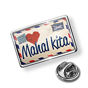 Pin I Love You Filipino Love Letter from the Philippines - Lapel Badge - NEONBLOND