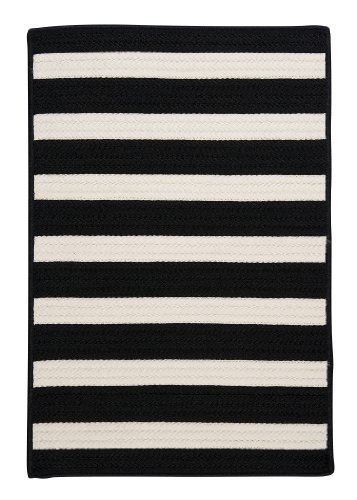Stripe It Rug, 3 by 5-Feet, Black White