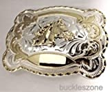Horse Cow Boy Jumbo 3d Western Gold and Silver Finishing Belt Buckle