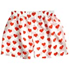 Silk Heart Boxers by ROYAL SILK - Valentine's Day - Red on White - Men's L