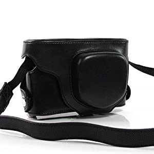 Black Luxurious PU Leather SLR Camera Case Cover Bag Holsters for Canon EOS Kiss X2 (7709-1)