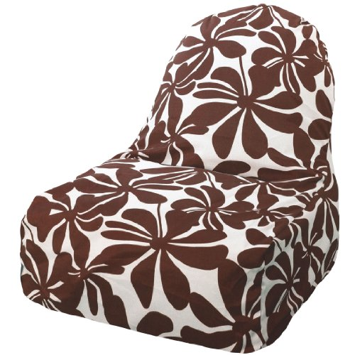Majestic Home Goods Kick-It Chair, Plantation, Chocolate front-178258