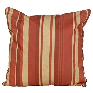 Codson Park Outdoor Square Pillow, 16-Inch, Breezeway Strip Shiraz Knife Edge Finish by India House Brass L&G