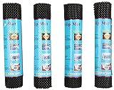 Premsons Multi Purpose PVC Foam Anti-Slip Anti-Slide Mat Set of 4(12