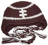 BePe Baby Baby's Crochet Football Beanie Hat - 0-3 Months - Brown