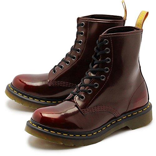 ドクターマーチン べガン 1460 DR.MARTENS VEGAN 1460 8ホール ブーツ チェリーレッド プレーントゥ レディース UK5.0(24cm) [並行輸入品]