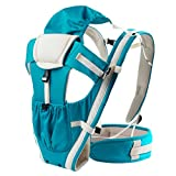 Beauty-flower(tm) Baby Carrier suitable from 3 months up to 36 mounths/3.5~25kg baby,Cotton(soft-blue)