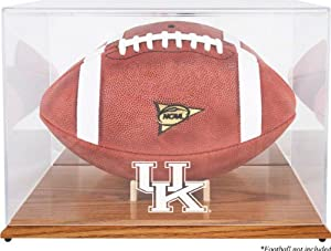 Kentucky Wildcats Oak Base Logo Football Display Case, with Mirror Back