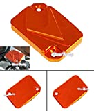 Front Brake Master Reservoir Cap Cover for 2012 2015 KTM Duke 125 200 390 Orange