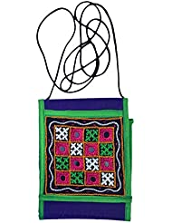 Kutch Craft Women's Sling Bag Blue (Pack Of 2)