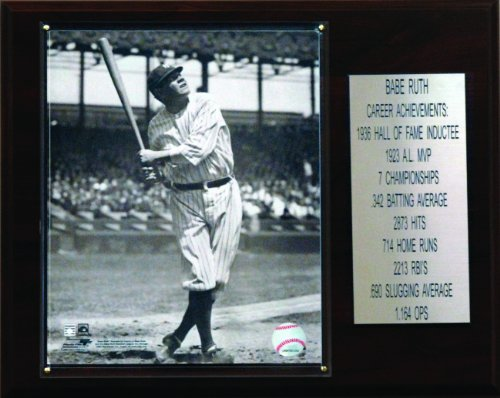 MLB Babe Ruth New York Yankees Career Stat Plaque at Amazon.com