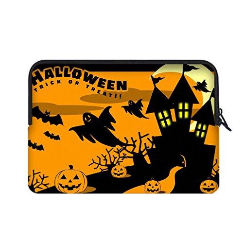 JIUDUIDODO Neoprene Custom Cool Halloween Evil Jack with Bat Portable Macbook Air Bag Sleeve for Macbook Air 13