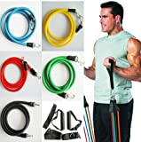 Resistance bands 11 pcs Exercise Latex Tube p90x workout gym yoga fitness