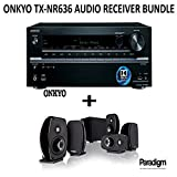 Onkyo TX-NR636 Bundle 7.2-Channel Network A/V Receiver + Paradigm Cinema 100 Home Theater System