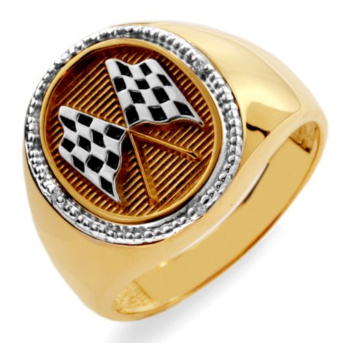 10k Yellow Gold Racing Ring