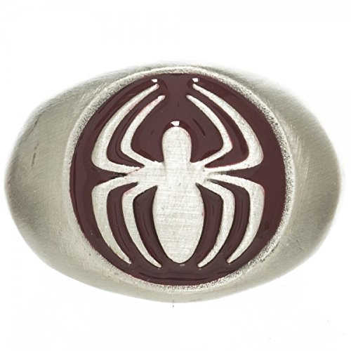 Marvel The Amazing Spider-Man Brushed Nickel Ring | 6.5