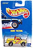 Hot Wheels - Surf Patrol Truck replica - Collector #102 - Vintage 1991 Copyright/Issue - 1:64 Scale - Razor Wheels - Standard Card